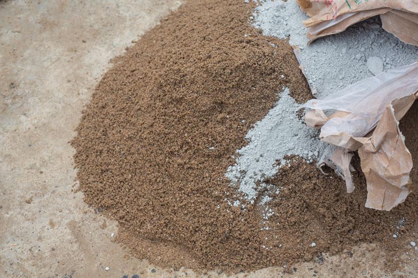 Cemento y arena